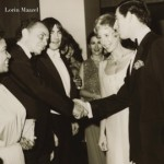 Ann presents conductor Lorin Maazel to His Royal Highness, March 6th, 1980