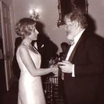 With Sir Peter Ustinov, 1980