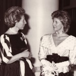 With HRH the Duchess of Gloucester, November 10th, 1981